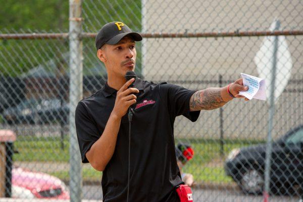 Man speak on microphone