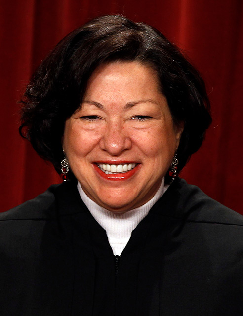 U.S. Supreme Court Justice Sonia Sotomayor, a Catholic, is pictured in a 2010 photo at the Supreme Court building in Washington. (CNS photo/Larry Downing, Reuters)