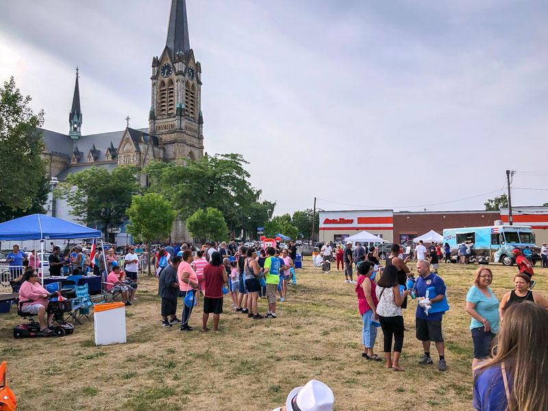 El 12 de julio de 2018, la Corporación de Desarrollo Iberoamericana realizó uno de tres eventos en el lugar futuro de la International Plaza en La Marketa en la Avenida North Clinton en Rochester.