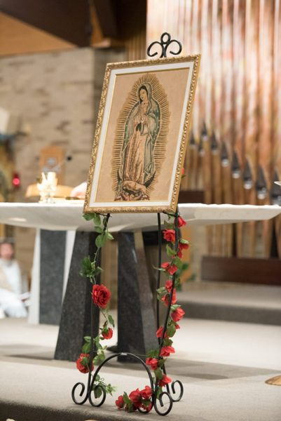 The image of Our Lady of Guadalupe was placed near the altar at St. Joseph Church in Penfield Dec. 12.