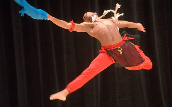 """Shawndel Lewis performs a dance titled """"Pressure."""""""